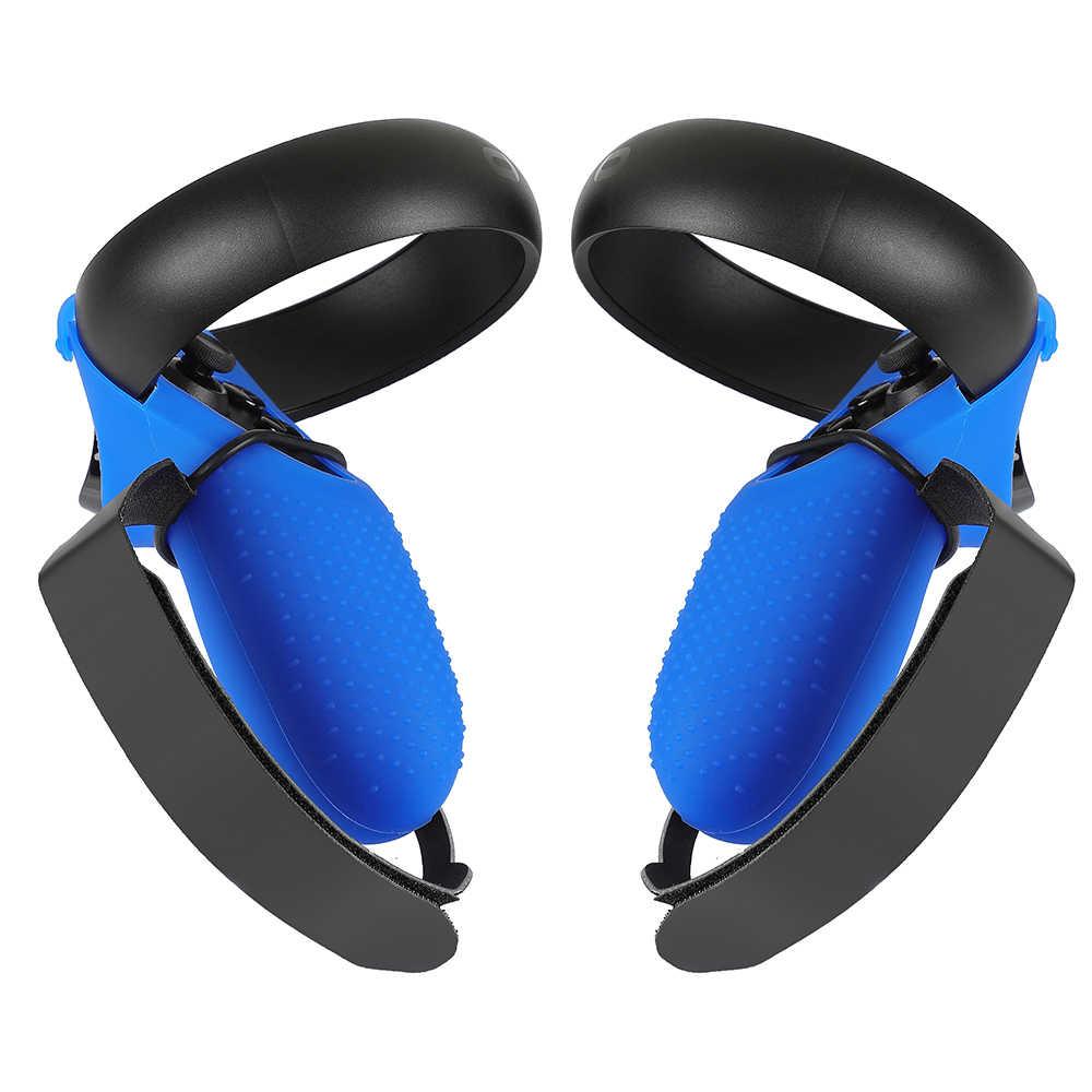 Dokunmatik kontrol tutma kapağı PU mafsal kayış Oculus Quest/Rift S bilek kayışı Anti-Throw kolu koruyucu aksesuarları