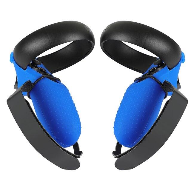 Kontroler dotykowy osłona uchwytu futerał PU pasek na kostkę do Oculus Quest/Rift S pasek na rękę uchwyt antypoślizgowy akcesoria ochronne