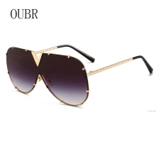 OUBR Trend brand designer ladies fashion sunglasses yellow lens red mens luxury quality UV400