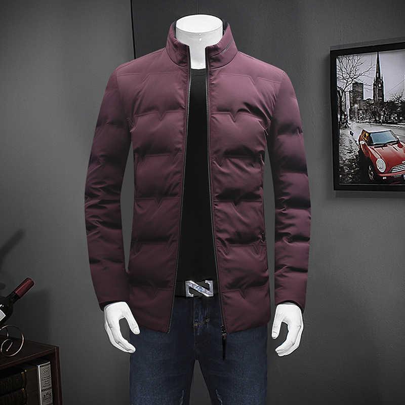 10XL 8XL パーカー綿パッド入り冬メンズウォームジャケット男性ソリッドカラーは襟ジッパー厚いコートダウンパーカー