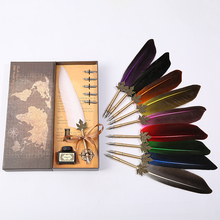 2019 new European retro feather pen, the best choice for Christmas birthday party цена и фото