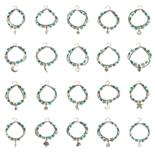 20 Pcs/ Set Summer Beach Footchain Anklets Starfish Turtle Pine Stone Pendant Anklet Bracelets Foot Accessories