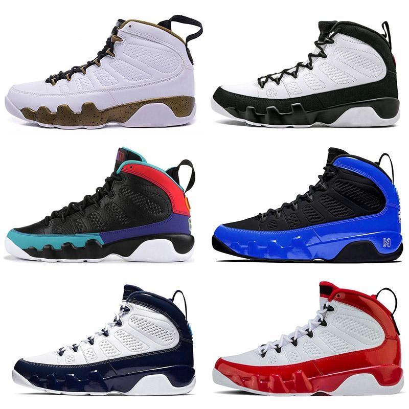 New Brand Basketball Shoes Retro 9 Gym Red 3M Racer Blue Snakeskin OG Space Jam Designer Mens Sneakers Trainers Sport Size 7-13