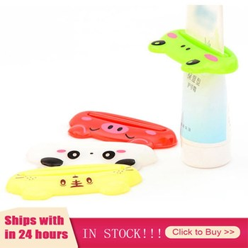 For Home 1 Pcs Animal Easy Toothpaste Dispenser Plastic Tooth Paste Tube Toothpaste Squeezer Rolling Holder Bathroom Accessories image