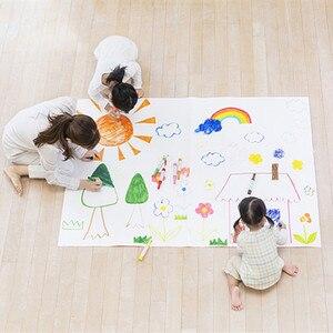 Image 5 - Kendinden yapışkanlı silinebilir beyaz tahta Sticker boyama yazı beyaz tahta öğretim çıkarılabilir duvar çıkartma çocuklar için bebek odası
