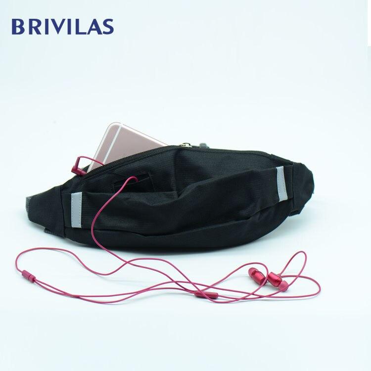 Brivilas New Sports Belt Bag Women Men Waterproof Run Waist Bags Breathable Zipper Fashion Chest Handbag Nisex Pack Belly Purse