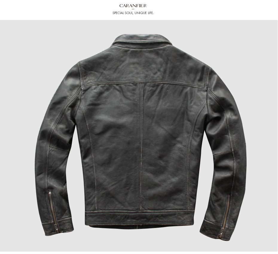He853367b3e20428ab87157d52e6c1f21Z CARANFIER DHL Free Shipping Mens 100% Cowhide Genuine Leather Jacket High quality old retro motorcycle leather jacket 3XL