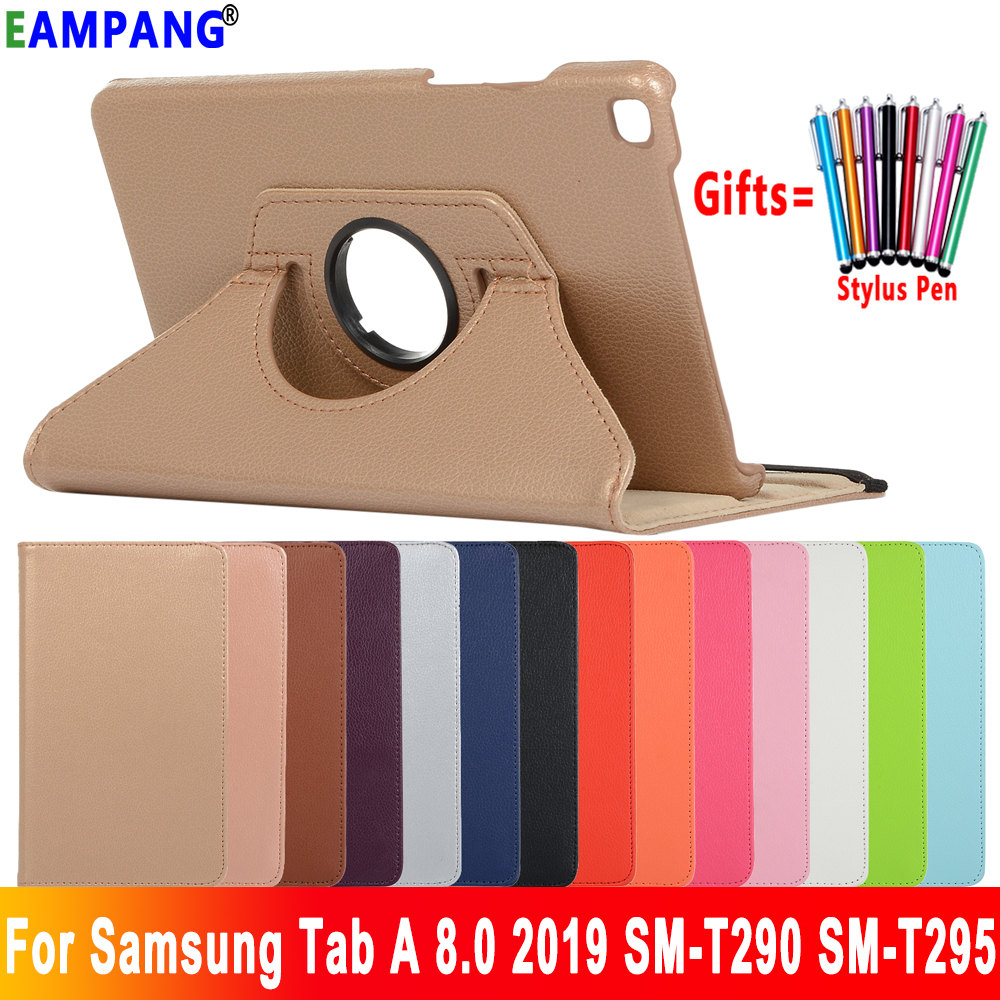 360 Degree Rotating Leather Case For Samsung Galaxy Tab A 8.0 2019 Case Cover T290 T295 SM-T290 SM-T295 Stand Coque Funda