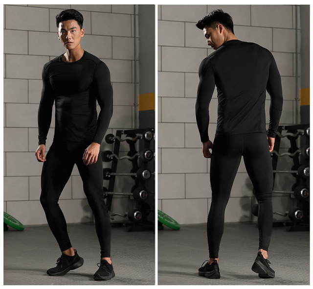 Men's Sportswear Compression Suits Training Clothing Set Training Jogging Sports thermal underwear Running Workout Gym Tights 4