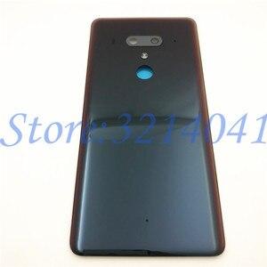 Image 2 - חדש מקורי 6.0 סנטימטרים עבור HTC U12 בתוספת חזרה סוללה כיסוי אחורי דלת פנל זכוכית שיכון מקרה עם לוגו