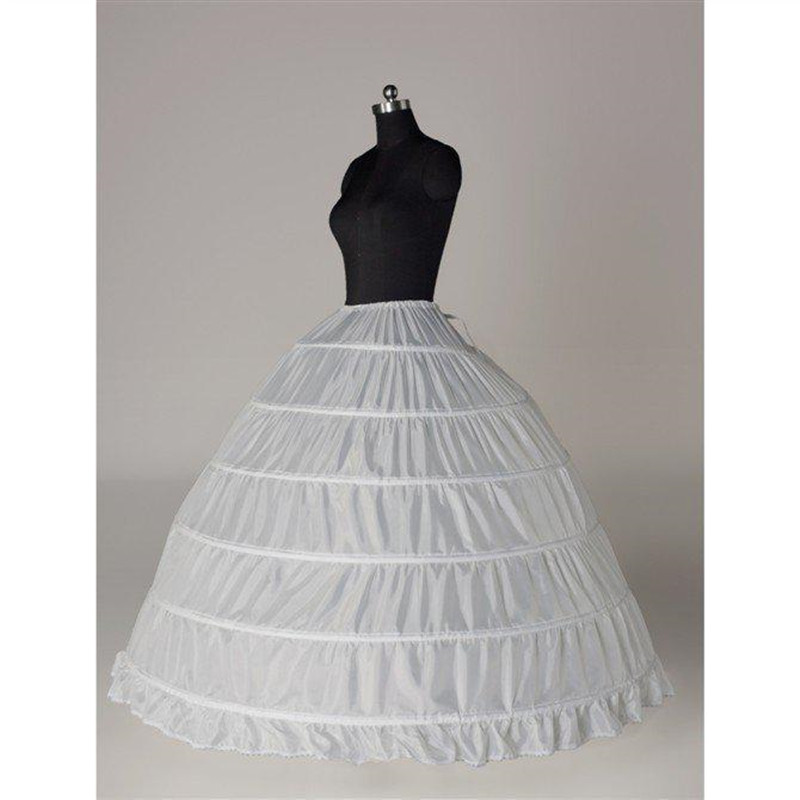 Best Sale Modern Puff High Quality 6 Hoops Bridal Petticoats For Ball Gown Wedding Dress Crinoline Underskirt Bridal Accessories