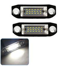 For VOLVO LED Car Number License Plate Lamp Canbus Xenon White For S40 S60 S80 XC70 XC90 C30 V50 60 XC60 LED license plate light
