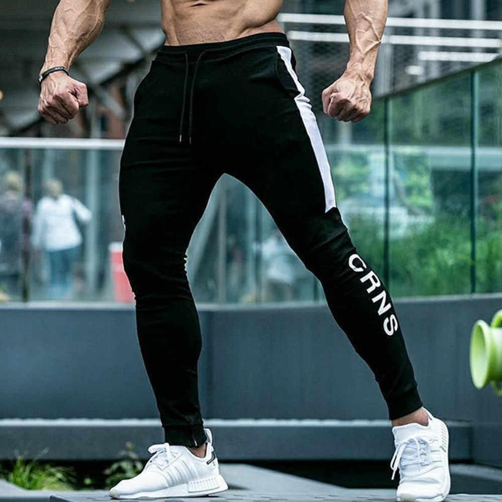 Men Casual Straight Leg Joggers Bottoms Jogging Pants Gym Fitness Sport Trousers