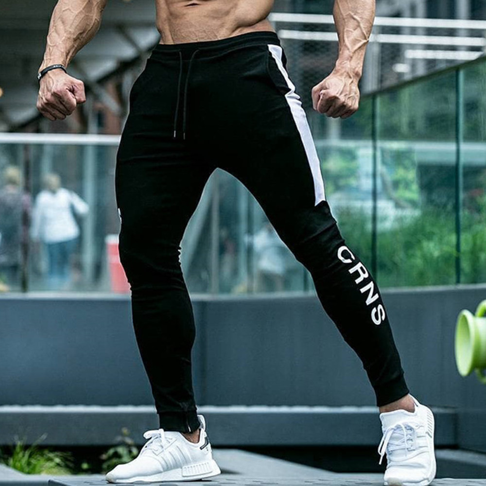 Casual Skinny Pants Men Joggers Sweatpants Gym Fitness Workout Track Pants Autumn Male Running Sports Cotton Trousers Sportswear