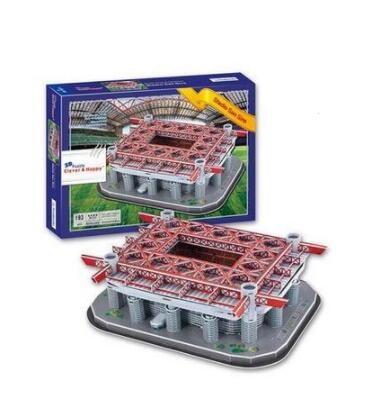 Stadio Giuseppe Meazza San Siro Stadium Milan 3D Paper DIY Jigsaw 3414 Puzzle Model Educational Toy Kits Children Boy Gift Toy