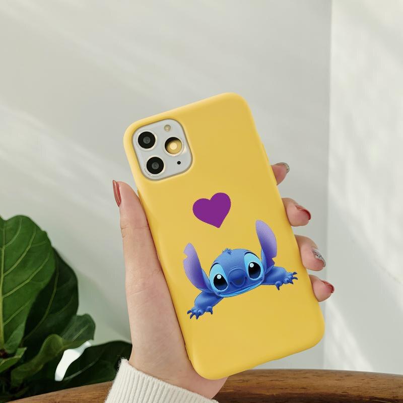 Cartoon Cute Stitch Case For Huawei P40 Lite E P30 P20 Honor 10 Lite 20 Pro 10I 8X 9S 9A P Smart 2020 Y6p Y5p Y9 Prime 2019 Etui