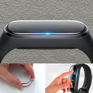 Image 5 - 3D Curved Edge Full Soft Clear Protective Film Smartband Cover For Xiaomi Mi Band 5/6 Band6 Miband6 LCD Screen Protector Guard