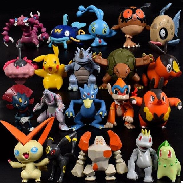 144Pcs Styles Pokemon toys Figures Model Collection 2-3cm Pokemon Pikachu Anime Figure Toys Dolls Child Christmas Halloween Gift 4
