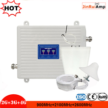 2G 3G 4G 900 2100 2600 Gsm Wcdma Lte 2600 Cellulaire Signaal Booster Gsm Repeater 3G 4G Lte 2600 Repeater Mobiele Telefoon Booster