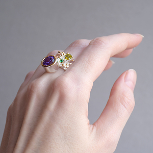 Image 3 - DreamCarnival 1989 New Arrive Colorful Feminine Zircon Ring for Women Big Purple Stone Gothic Wedding Engagement Jewelry WA11704