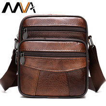 MVA Mens Bag Genuine Leather Mens Shoulder Bags For Men Crossbody Bags Male Business Messager Bags Man Leather Handbags 500