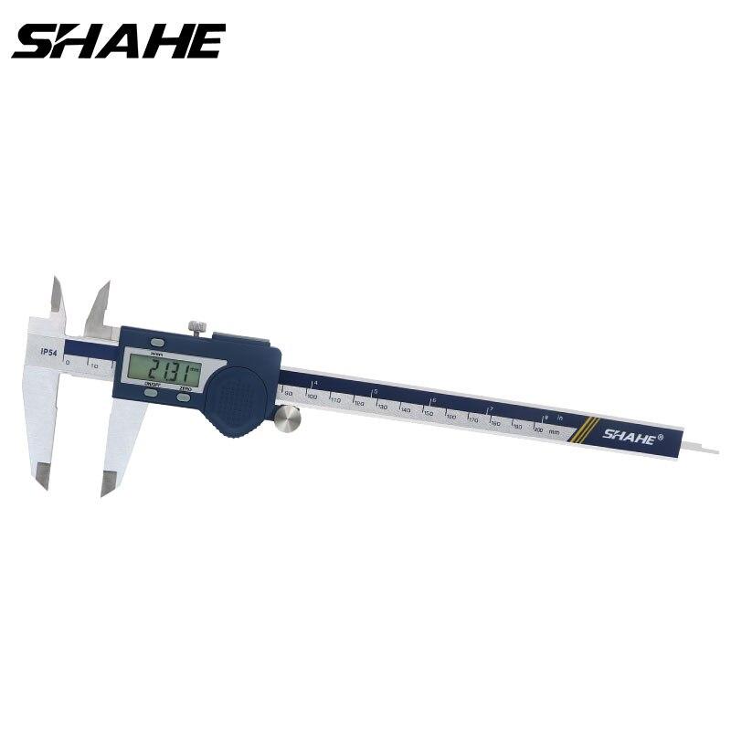 shahe electronic vernier caliper 200 mm Stainless Steel Digital Vernier Calipers Micrometer Gauge measuring tools