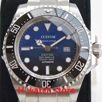 цена 44mm watches men automatic mechanical watch Men's sapphire glass Luminous deep Stainless steel sea Miyota 8215 Wristwatch онлайн в 2017 году