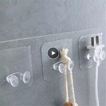 Rack Adhesive-Hooks Wall-Hanger Bathroom-Towel Space-Saver Flower Kitchen Transparent Strong