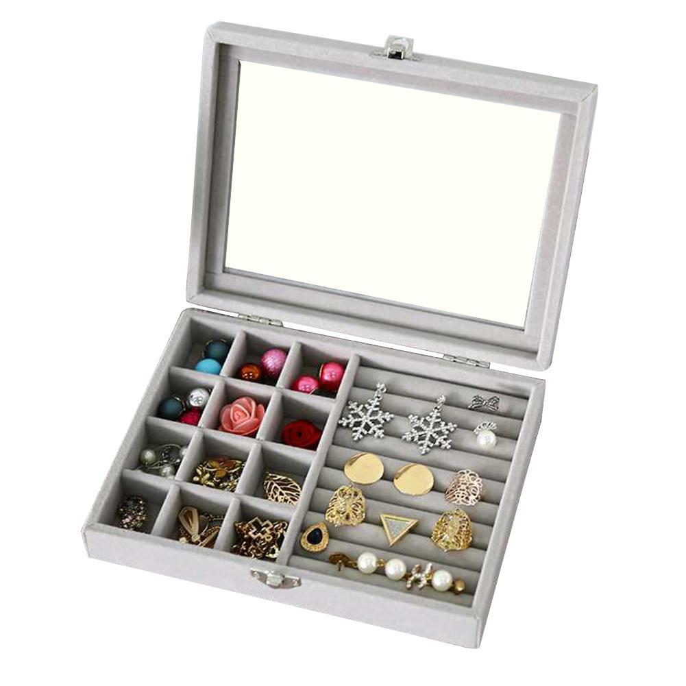 Fashion Velvet Jewelry Display Holder Earrings Necklaces Storage Organizer New