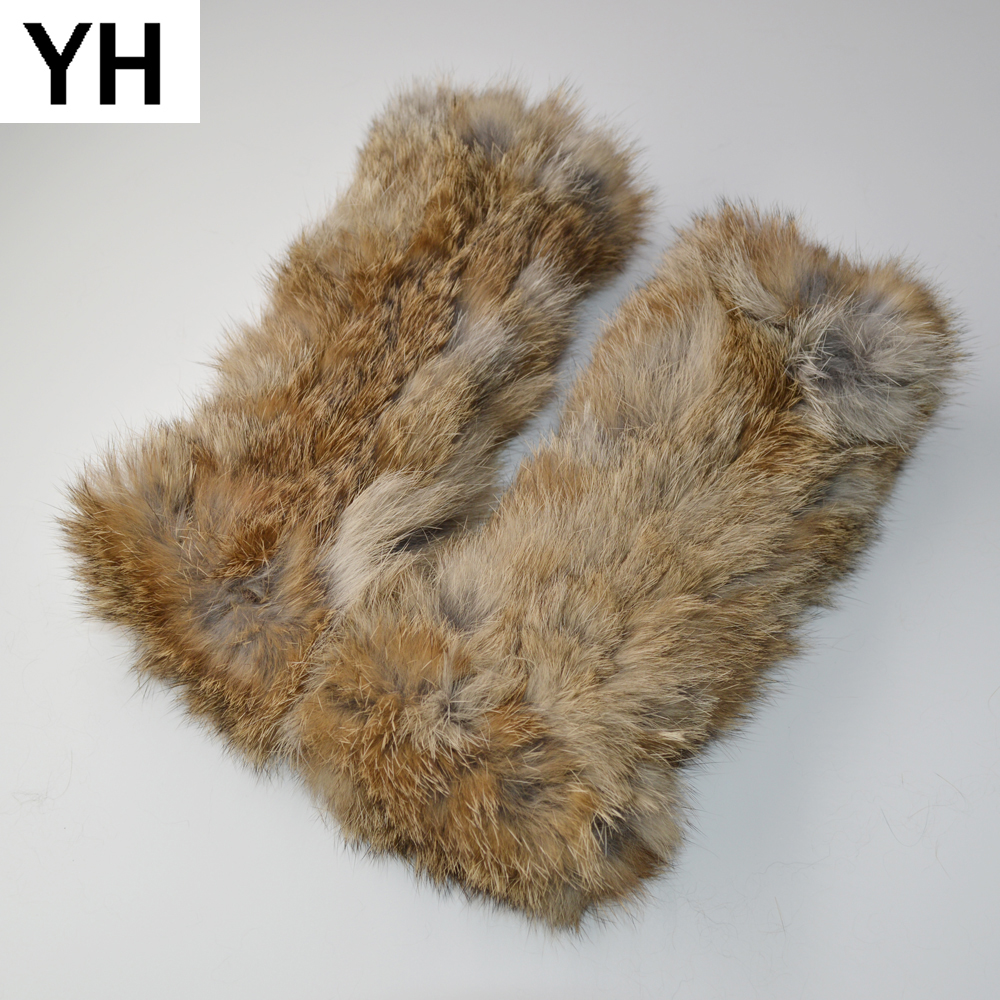 New Style Winter Girl Natural Real Rex Rabbit Fur Gloves Good Elastic Knitted Rabbit Fur Mittens Lady Real Rex Rabbit Fur Gloves