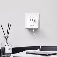 Xiaomi Mijia Small Cube Shape Socket Power Wired & Wireless Converter Adapter Charger with 3 USB Ports for Fast Charging