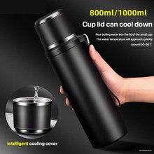 1000 ml grande capacidade de aço inoxidável garrafa mal ventilada água refrigerando rápido copo 55 graus inteligente refrigerar portátil chaleira copo água