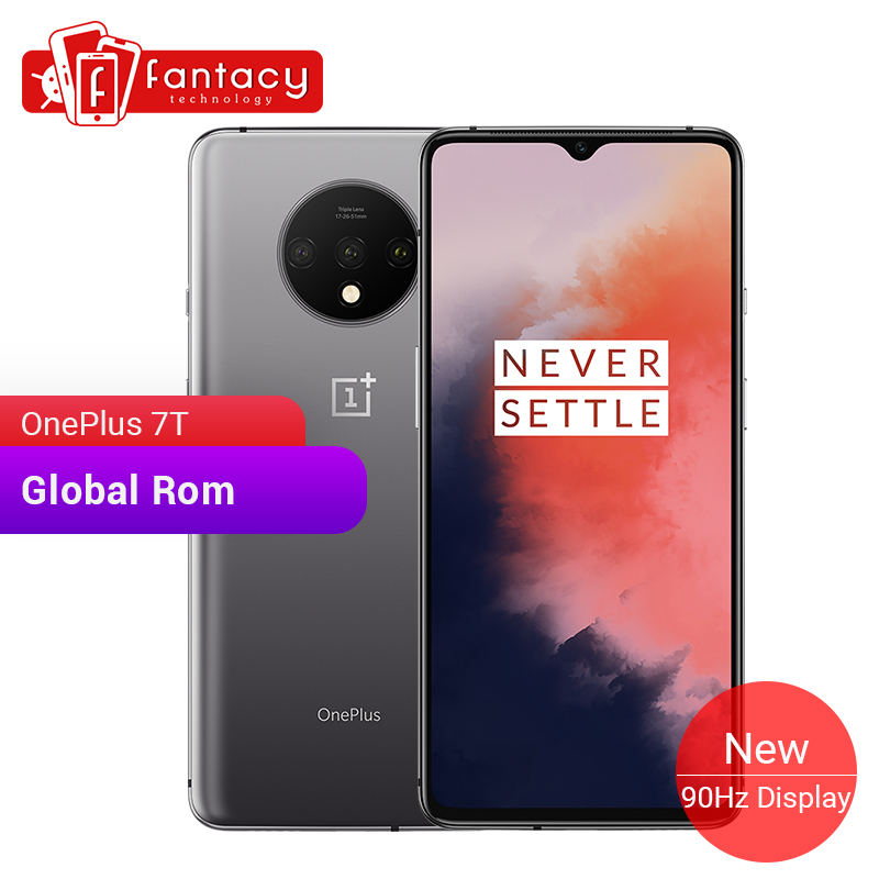 Global ROM OnePlus 7T 8GB 256GB Smartphone Snapdragon 855 Plus AMOLED 90Hz Screen 48MP Cameras Big Battery UFS 3.0 Warp Charge