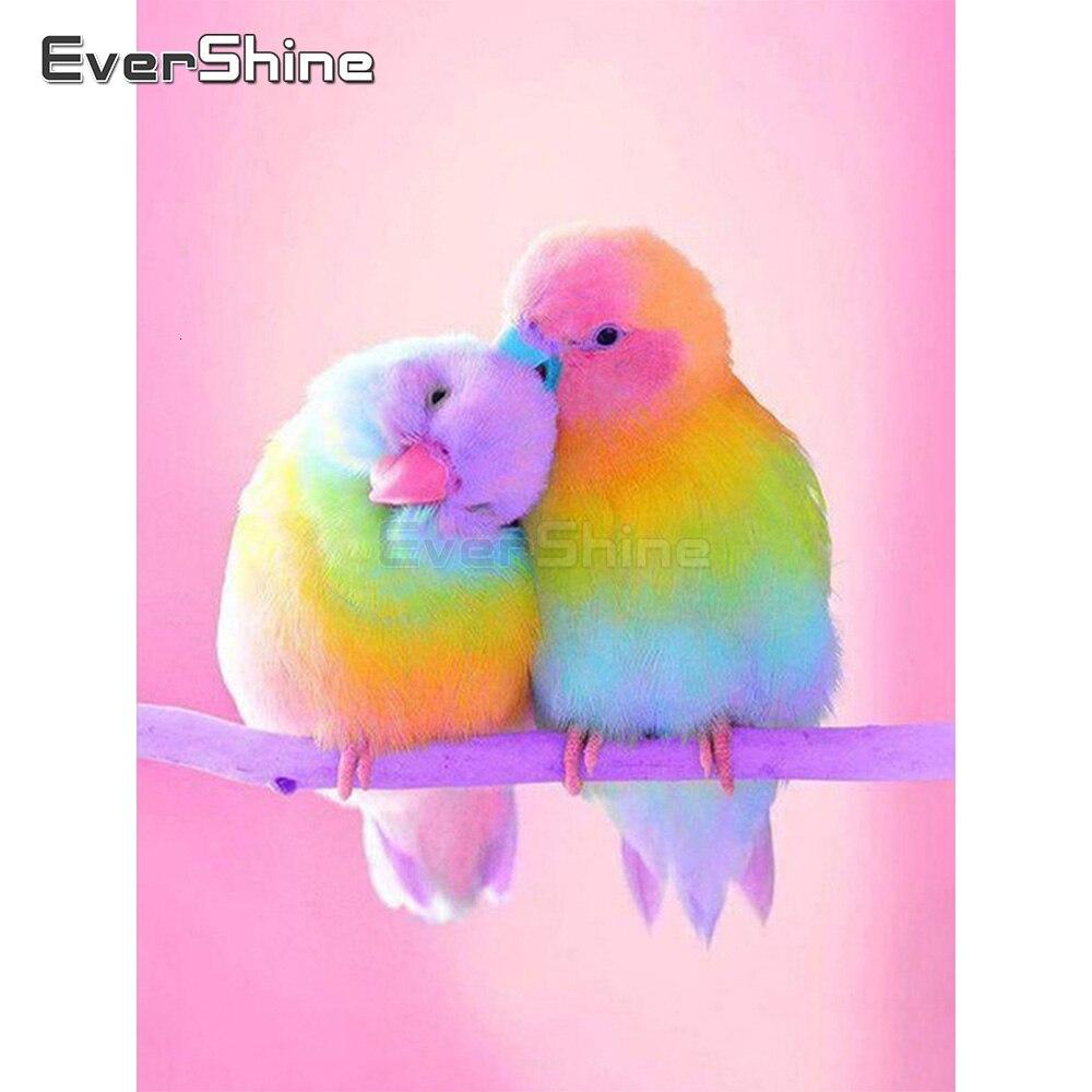 EverShine алмазная вышивка полная выкладка попугай алмазная мозаика животное картины стразами декор для дома