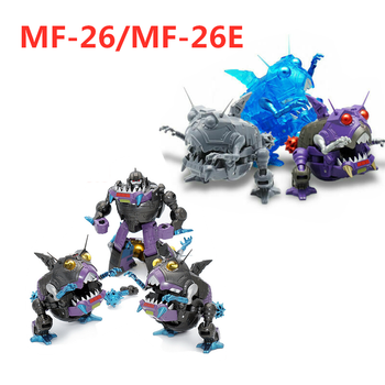 MFT 26E MechFansToys Transformation MF-26 MF-26E MF26E Sharkticons Limited Edition mini G1 Action Figure In stock transformation g1 dx9 d08 gewalt mp version blitzwing three changes aircraft tank model action figure toys with box in stock