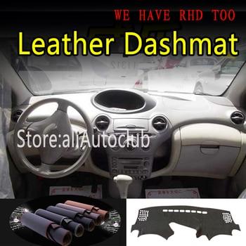 Per Toyota Platz Echo 1999 2000 2001 2005 Tappeto In Pelle Dash Zerbino Copertura Cruscotto Dash Zerbino Parasole Car Styling auto accessori