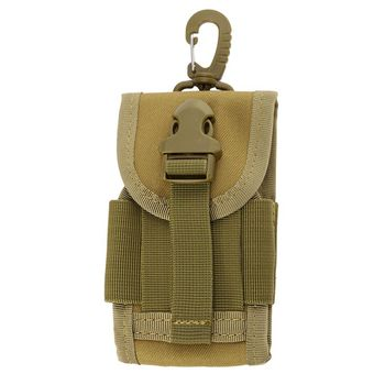 4.5 Inch Molle Bag Tactical Wallet Card Pouch Military Waist Bag Waterproof Card Key Holder With Carabiner For Camping Hunting 4
