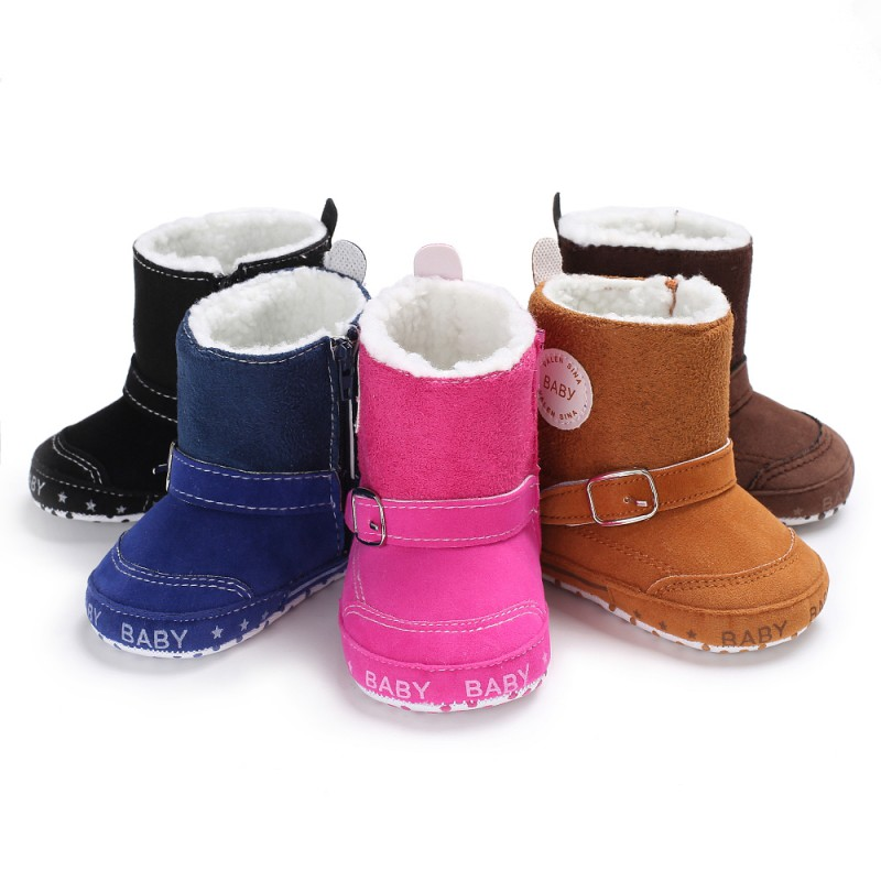 Infant Toddler Girls Boys Snowfield Shoes Newborn Baby Winter Boots Crib Bebe Kids Super Keep Warm Zipper SPORTS Styles Booties