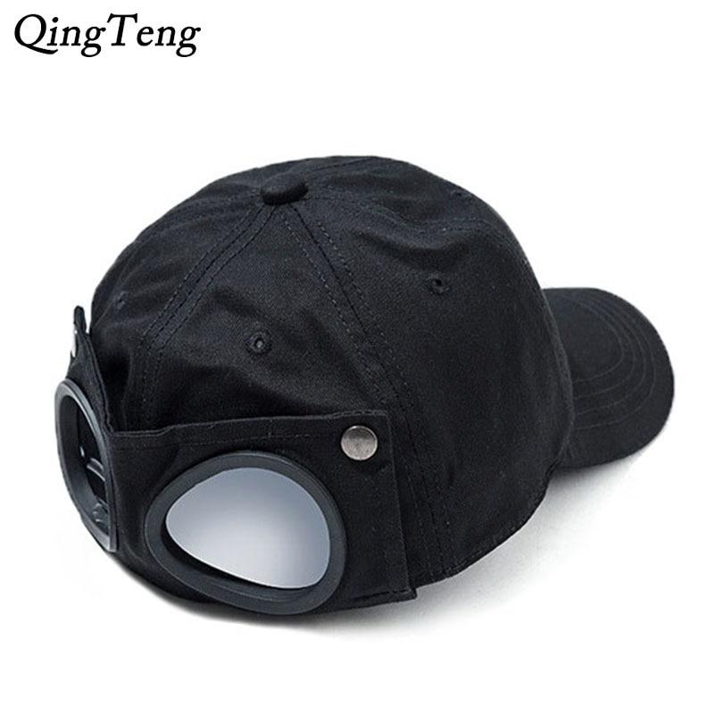 Pilot Glasses Baseball Cap Black Reverse Wearing Men's Caps Swag Women's Hip Hop Snapback Hat Windproof Sports Dad Hats
