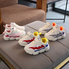Fashion solid LED shoes baby Hook&Loop unisex girls boys sneakers cool classic new brand first walkers infant tennis