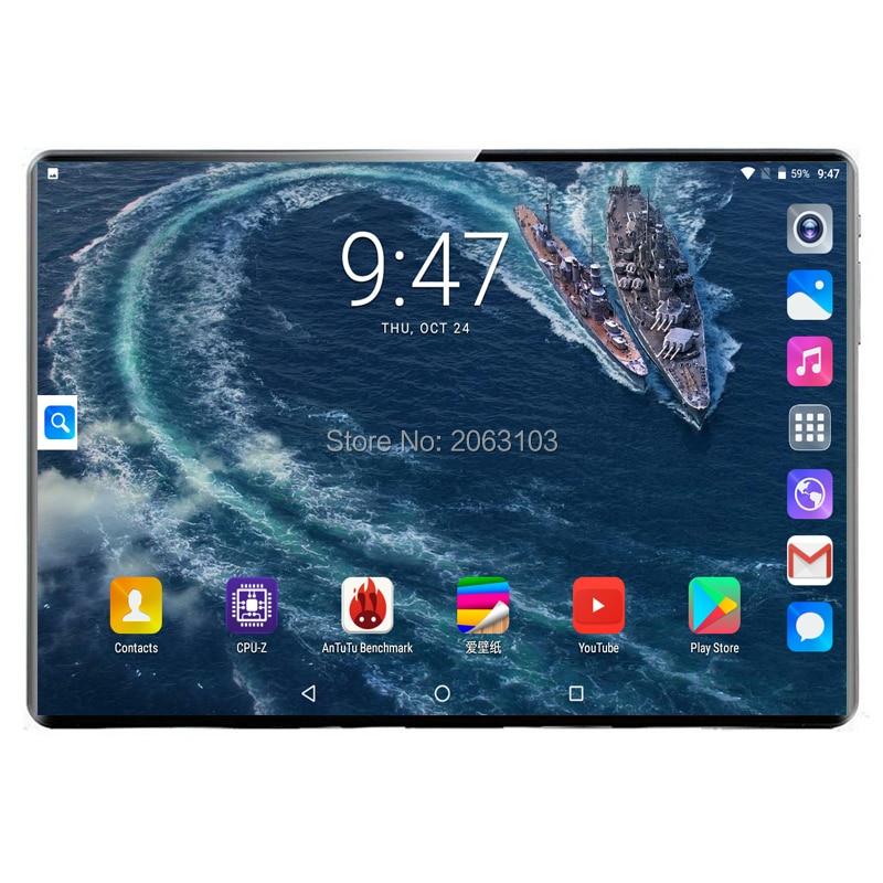 2020 планшет 128G Global Bluetooth Wifi Android 9,0 10,1 дюймов планшет Deca Core 8 ГБ ОЗУ 128 Гб ПЗУ 2.5D экран планшеты 3G4G фаблет