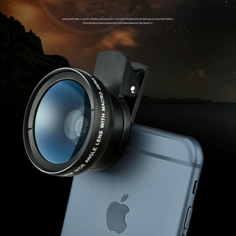 2in1 Macro Professional HD Phone Camera Lens For iPhone 8 7 6S Plus Xiaomi Samsung LG 5