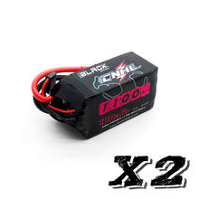 2 unidades cnhl preto série lipo 1100 mah 6 s 22.2 v 100c lipo bateria