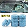 200 шт. (1 шт. = 4 л) автомобильный стеклоочиститель, стеклоочиститель, автомобильный сплошной очиститель, компактные шипучие таблетки, ремонт о...