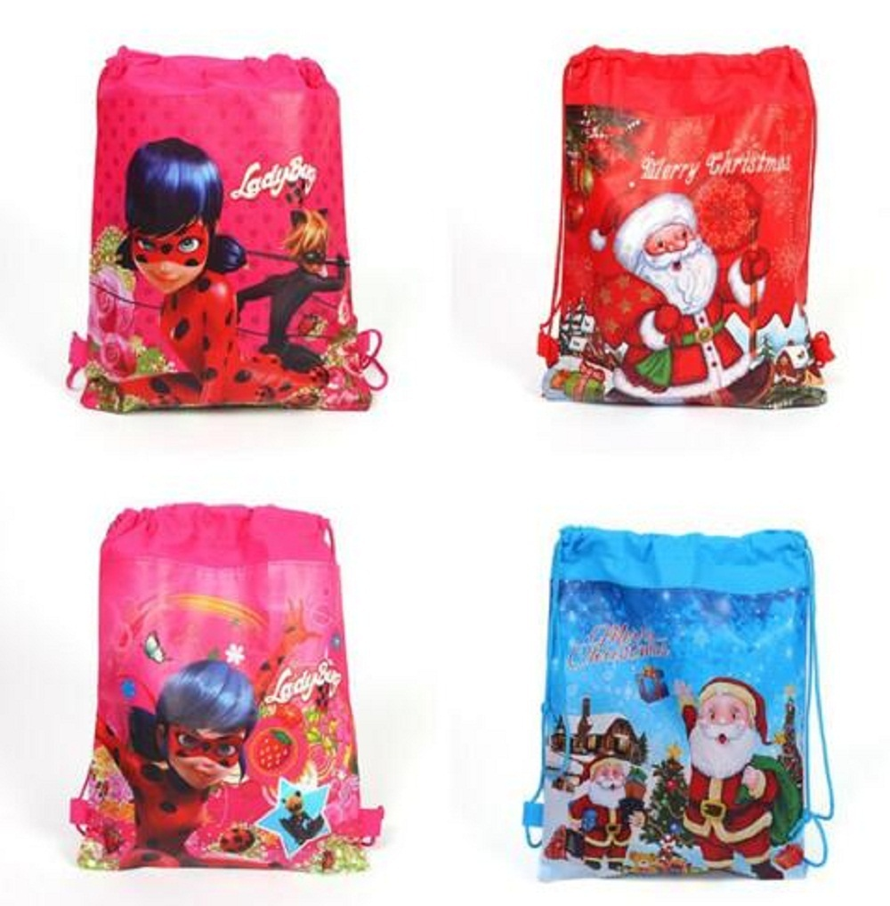 Bug-Toys Drawstring-Bag Christmas-Ladybug-Bag Action-Figures Gift Party Handbag Cosplay-Hat
