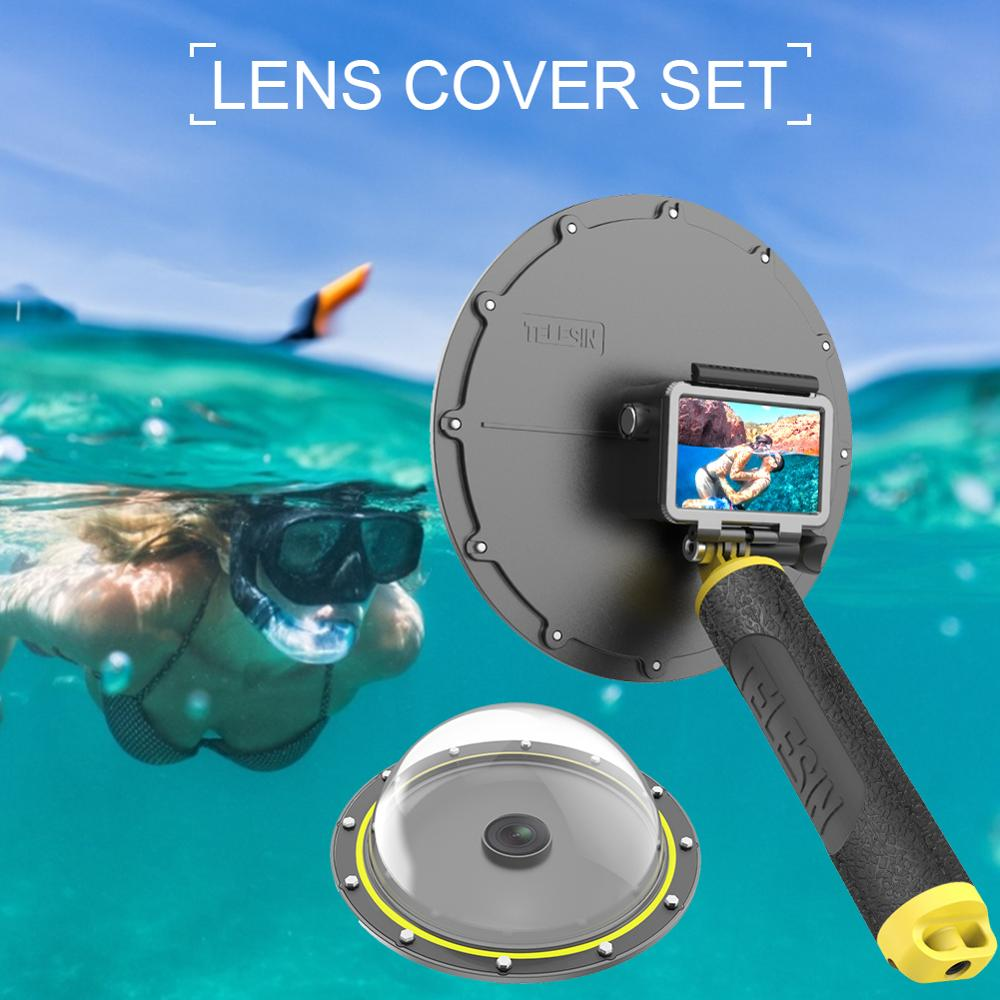 Dome Housing Case for DJI Osmo Action Sports Camera Diving Lens Case Shooting Photography 30m Scuba Swimming Cover with Monopod