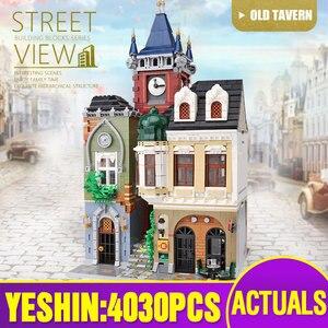 Image 4 - MOC 10218 Streetview yapı taşları ile uyumlu MOC 18923 kitap dükkanı eski şehir Pub Victor Lab olarak çocuklar noel hediyeler