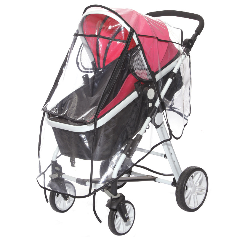 Universal Collection Stroller Weather Shield Solid Pink Color