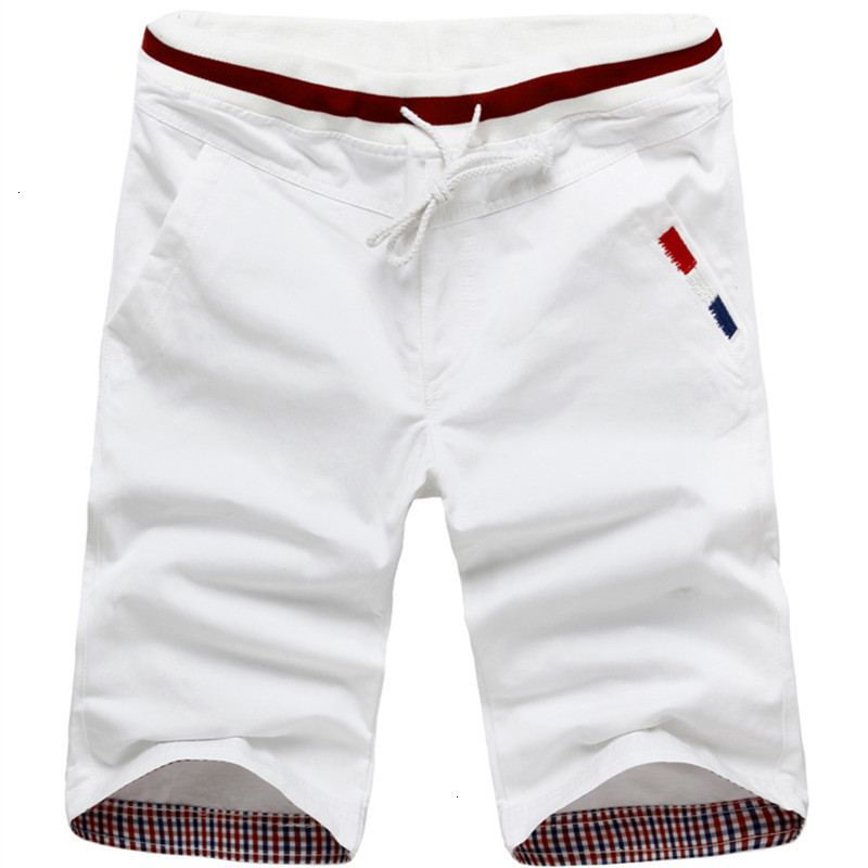2019 Zomer Mode Nieuwe Mannen Casual Stretch Taille Shorts/Mannelijke Kant Straight Shorts