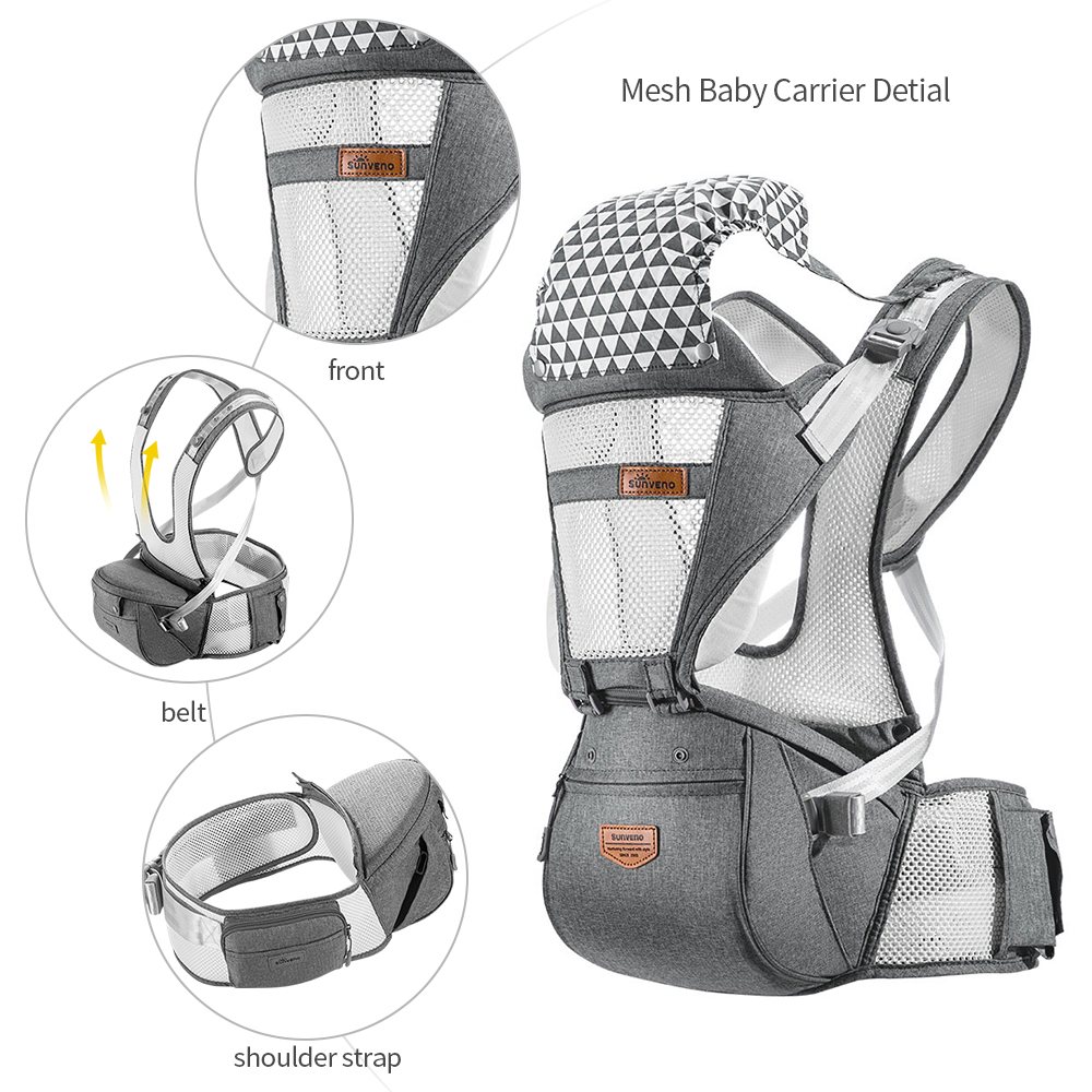 sunveno ergonomic baby carrier infant baby hipseat waist carrier for baby 0-36m